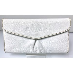 White Pebble Leather Dooney & Bourke Wallet